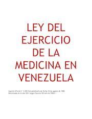 Documento PDF ley del ejercicio de la medicina 2011