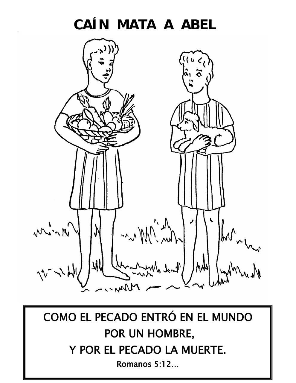 cain and abel coloring pages - photo#45