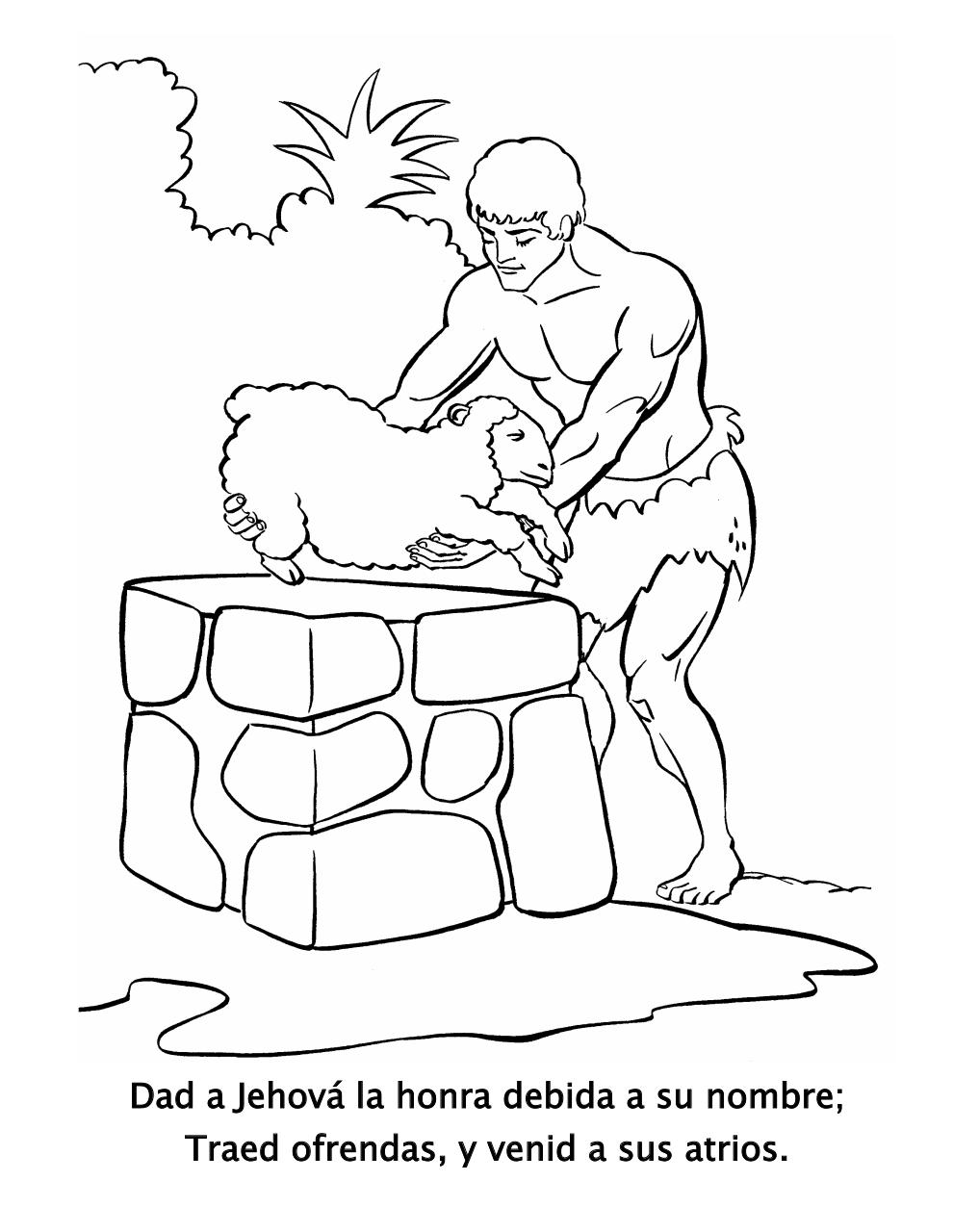 cain and abel coloring pages - photo#40