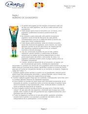 Documento PDF reglas de la liga poli 3