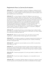 Documento PDF reglamento para la carrera de arratzain castellano