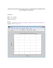 Documento PDF ejercicos en matlab de analisis de la respuesta transistoria de sistemas de control