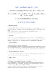 Documento PDF anuncio de regatas