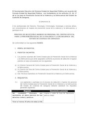Documento PDF convocatoria secretariado