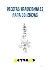 Documento PDF recetas tradicionales para dolencias