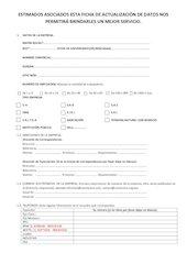 Documento PDF ficha de actualizaci n de datos de asociados