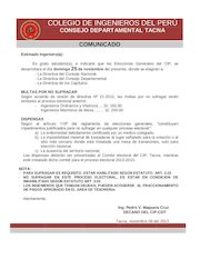 Documento PDF comunicado elecciones
