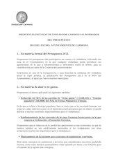 Documento PDF propuestas para presupuesto 2013