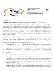 Documento PDF escrito informativo enero n 1 acuerdo vacaciones 1 1