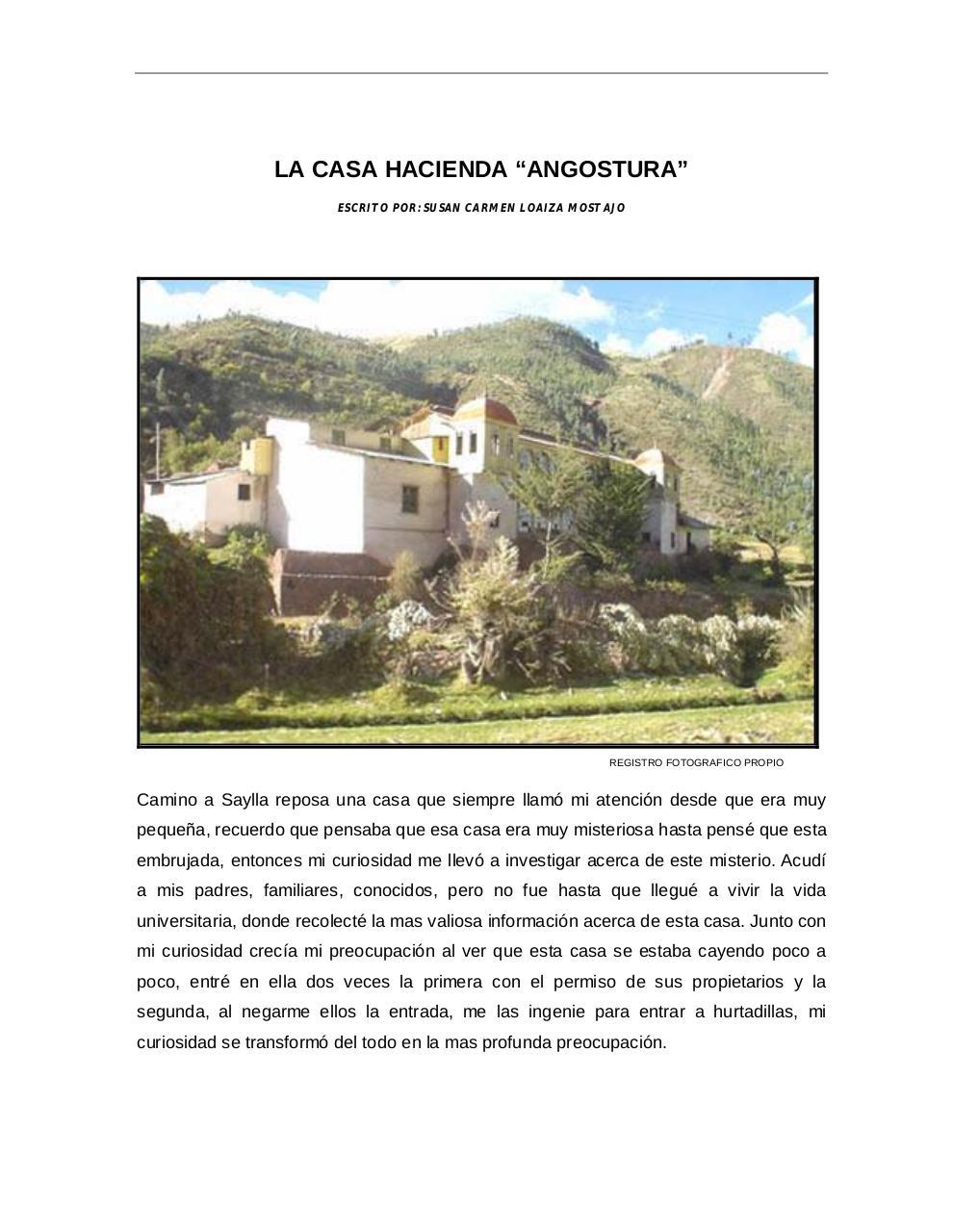 Los Garmendia De Cusco