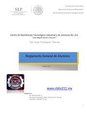 Documento PDF reglamento general cbtis 211 2012
