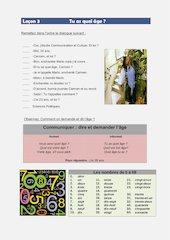 Documento PDF francais i lecons 3 et 4