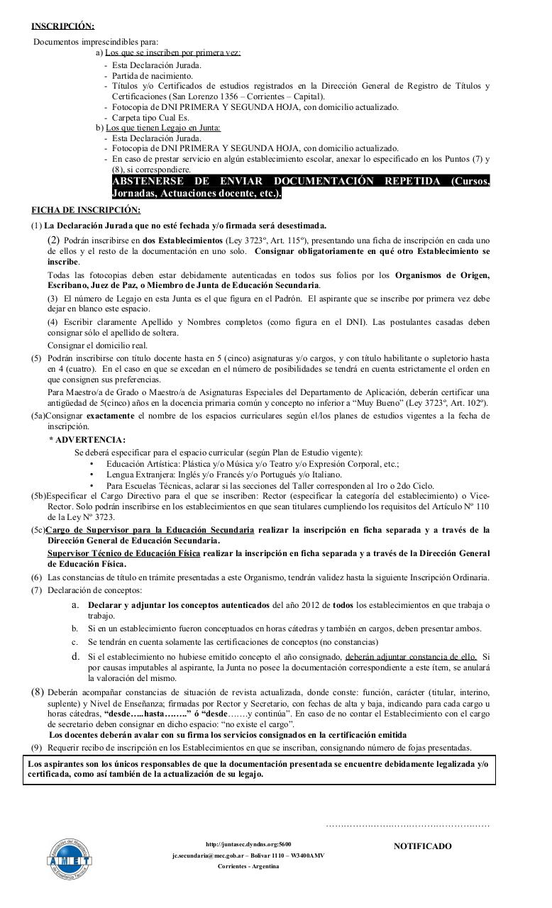 Ficha De Inscripcion Para Interinatos y Suplencias  2014.pdf - página 2/2