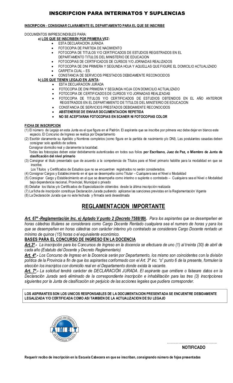 PRIMARIA - FICHA INSCRIPCION INTERINATOS Y SUPLENCIAS.pdf - página 2/2