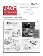 Documento PDF francais iii formative 1
