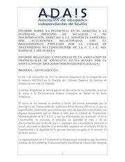 Documento PDF informe incidencia en el derecho a la intimidad por protocolos en entrevistas de test para reasignacion de sexo