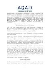 Documento PDF escrito a ayuntamientos de la provincia de sevilla de petici n de adopcion de medidas en relacion a la vivienda