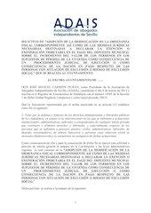 Documento PDF escrito a ayuntamientos de la provincia de sevilla de peticio n de exencion del pago de plusvalia