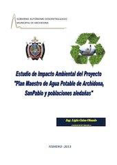Documento PDF estudio de impacto ambiental del proyecto plan maestro de agua potable