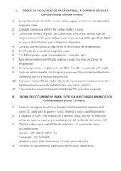 Documento PDF orden de entrega de documentos 2013