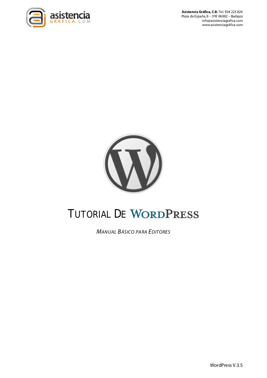 Tutorial de Wordpress.pdf - página 1/51