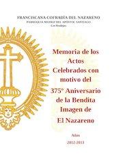 Documento PDF memoria de los actos celebrados con motivo del 375 aniversario de el nazareno
