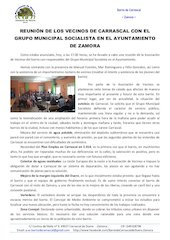 Documento PDF reuni n de los vecinos de carrascal con el grupo municipal socialista en el ayuntamiento de zamora