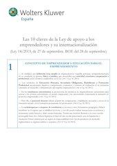 Documento PDF 10 puntos ley emprendedor