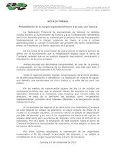Documento PDF 20131107 nota de prensa fave rehabilitaci n margen izquierda