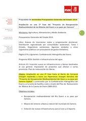 Documento PDF fb enmienda pge 2014 ampliaci n proyecto riberas duero zamora 14 11 13