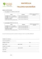 Documento PDF matricula talleres navidad