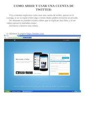 Documento PDF como abrir y usar una cuenta de twitter