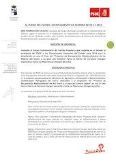 Documento PDF a 1113 moci n instando pp senado aceptaci n enmienda ampliaci n proyecto riberas duero pleno 28 11 13