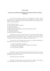 Documento PDF 20131112 acta ci cultura educaci n y turismo 12 11 13