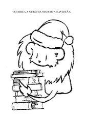 Documento PDF colorea a nuestra mascota navide a