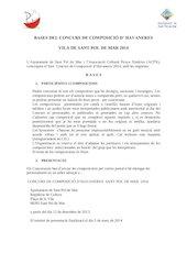 Documento PDF bases del concurs de composici havaneres 2014 1