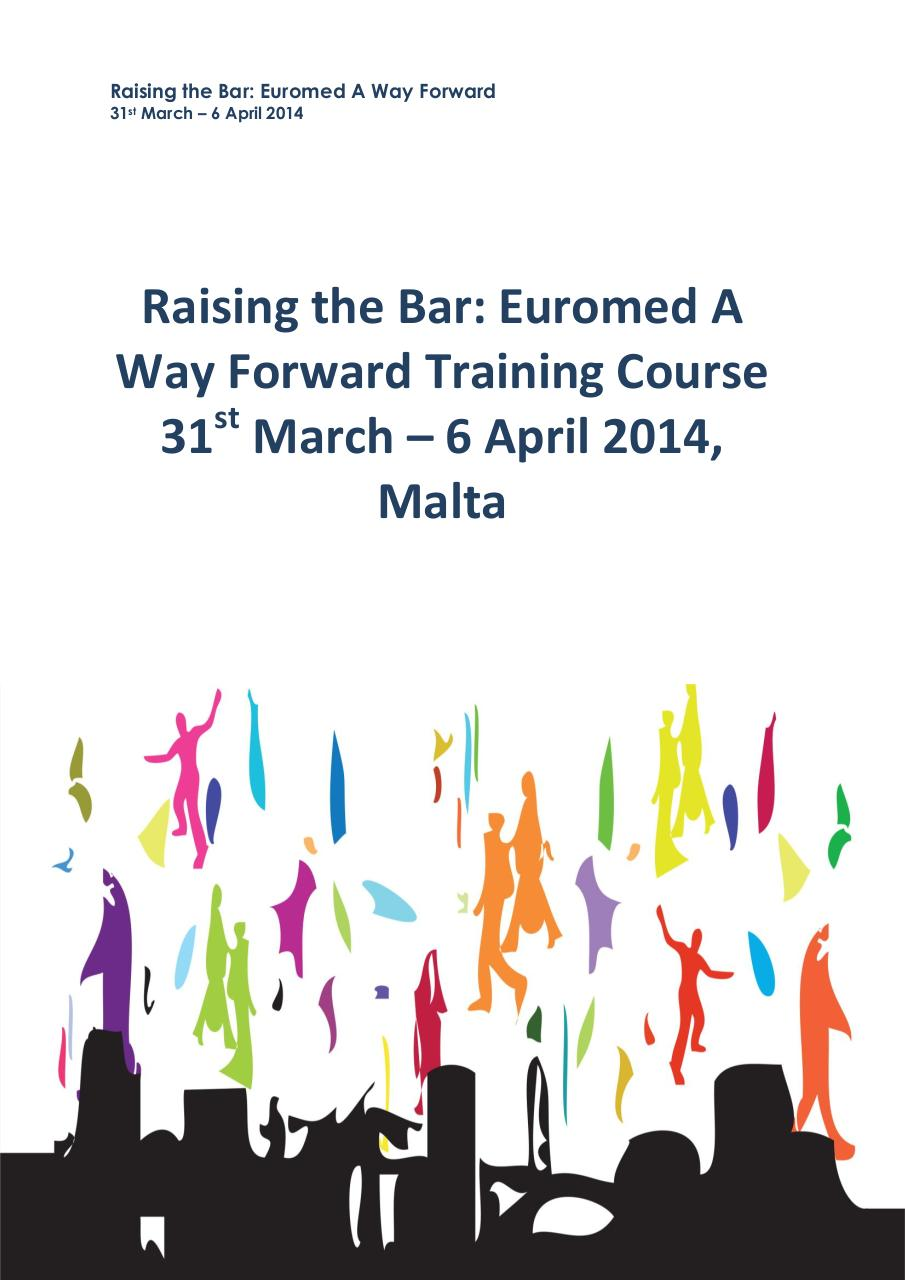 Raising the Bar - Euromed A Way Forward - Info Pack.pdf - página 1/4