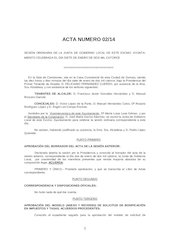 Documento PDF 20140107 borrador acta junta de gobierno local ayto zamora 07 01 14