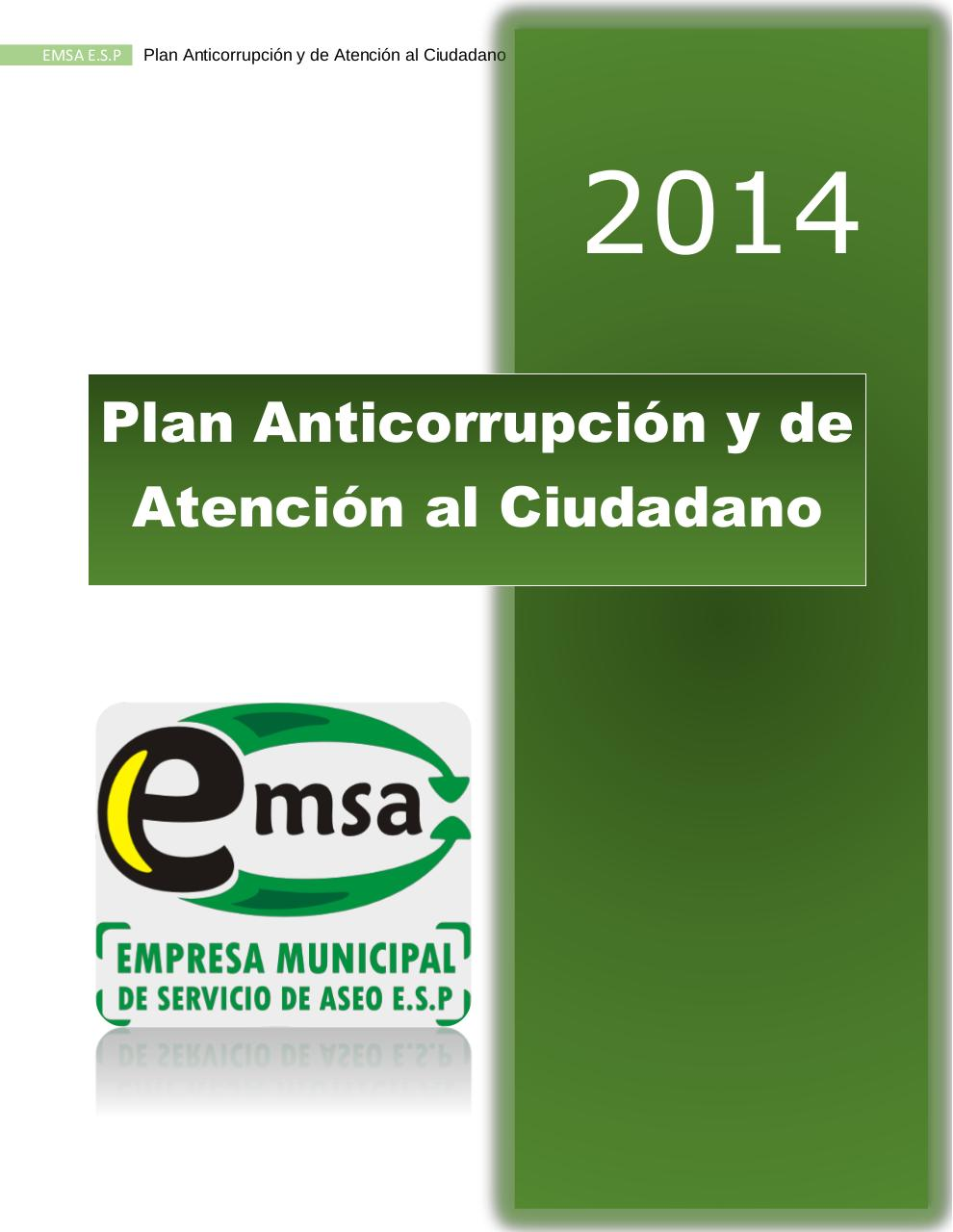PLAN ANTICORRUPCION  EMSA ESP 2014.pdf - página 1/21