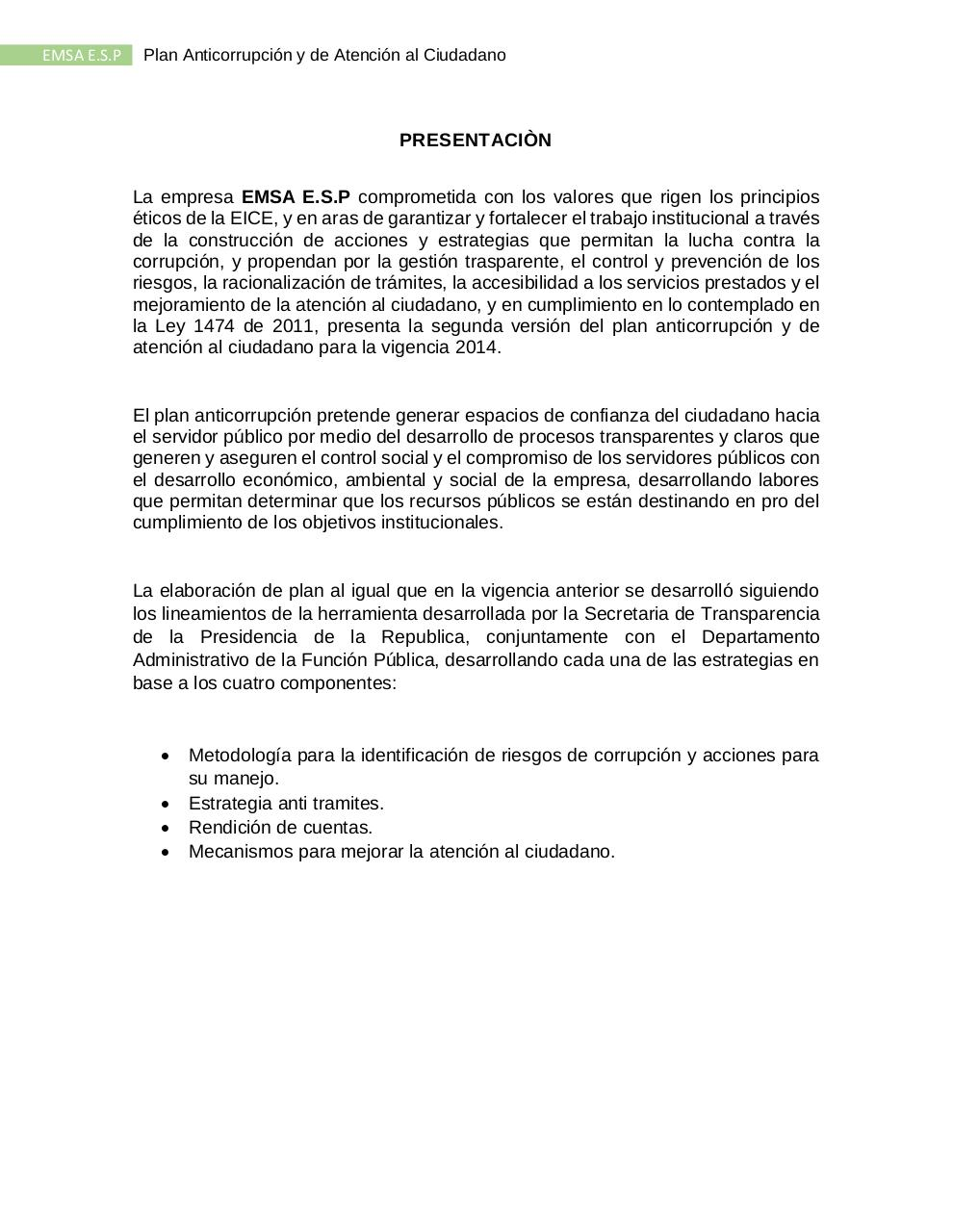 PLAN ANTICORRUPCION  EMSA ESP 2014.pdf - página 3/21