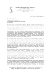 Documento PDF carta a presidenta chinchilla diputada mar a corina machado