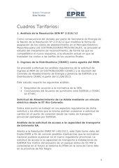 Documento PDF cuadros tarifarios