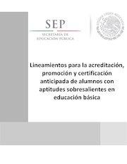 Documento PDF lineamientos acreditacion promo
