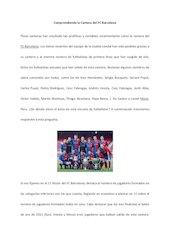 Documento PDF comprendiendo la cantera del fc barcelona