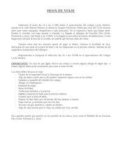 Documento PDF hoja de viaje a jaca