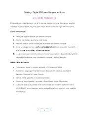 Documento PDF catalogo pdf comprar