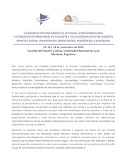Documento PDF v congreso interoceanico y ii filosofia y educacion 1 circular 1