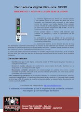 Documento PDF cerradura digital biolock 5000