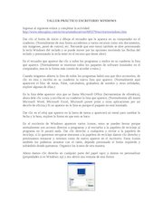 Documento PDF taller pr ctico escritorio windows
