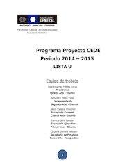 Documento PDF programa lista u